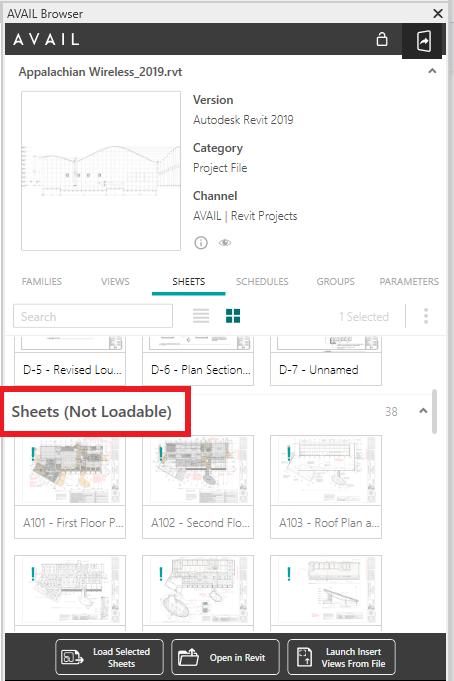 Not Loadable Sheets