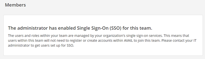 Single sign on enabled